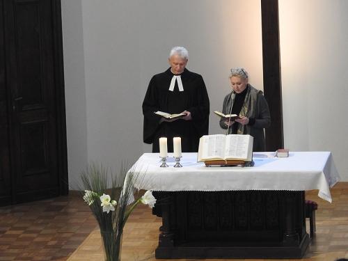 Nabożeństwo 21 stycznia 2018 r. połączone z wręczeniem nagrody ks. M. Jabłońskiemu od Polskiej Rady Chrześcijan i Żydów-1